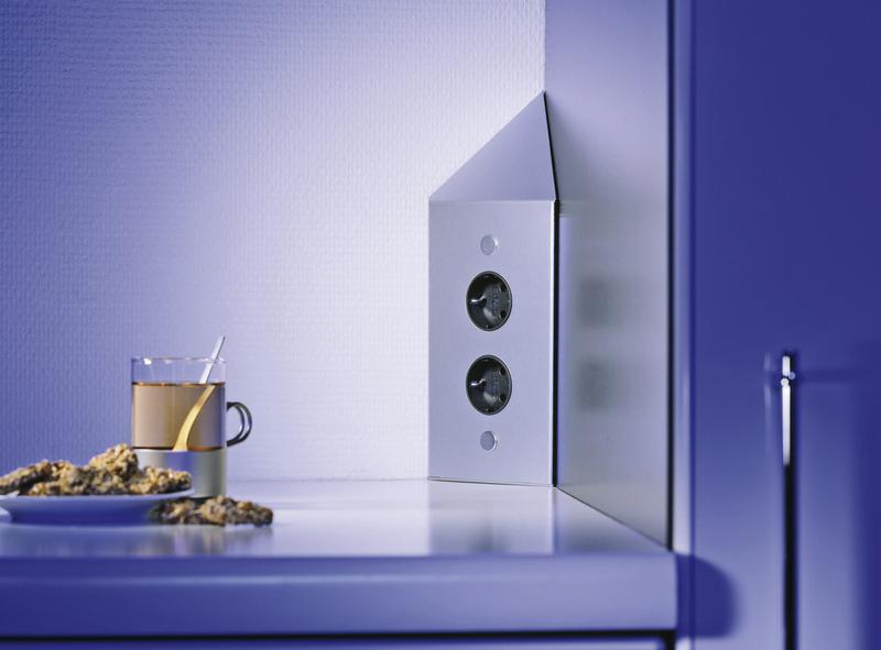 Steckdose Küche Thebo ST 3007-2C alu- 17587/200/2C - Design ...