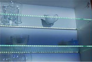 glasplatten beleuchtung alu profil licht warm weiss l nge 412mm thebo led71 design. Black Bedroom Furniture Sets. Home Design Ideas