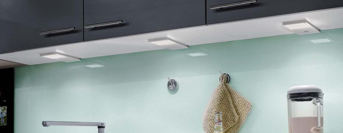 corner compact led 6 5 w 4000k 560mm mit steckdose edelstahl effekt unterbauleuchte steckdosen. Black Bedroom Furniture Sets. Home Design Ideas