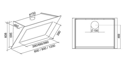 falmec wandhaube quasar schwarz 90 cm design. Black Bedroom Furniture Sets. Home Design Ideas