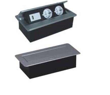 tischsteckdose mit usb anschluss thebo aps 11 usb 17116 design. Black Bedroom Furniture Sets. Home Design Ideas