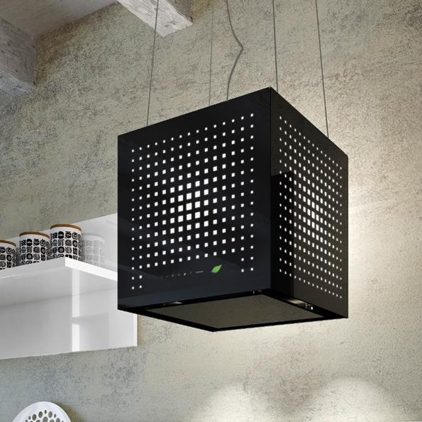 Falmec Rubik E Ion System Design Dunstabzugshaube Inselhaube Schwarz