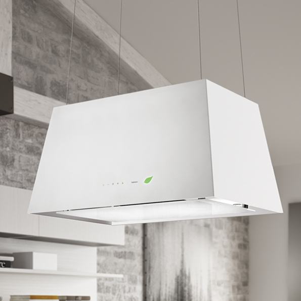 Falmec Lumiere Wall E Ion System Design Dunstabzugshaube Weiss 67 Cm